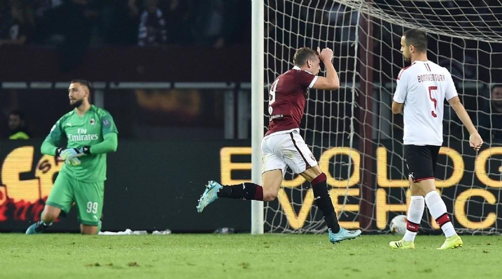 Andrea Belotti ha inflitto al Milan la terza sconfitta in campionato