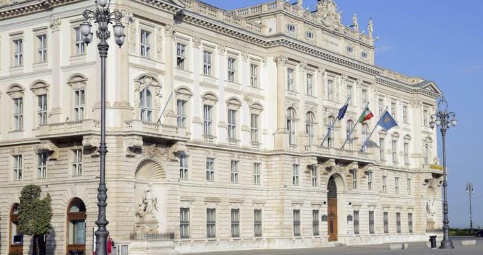 Il palazzo della Regione a Trieste