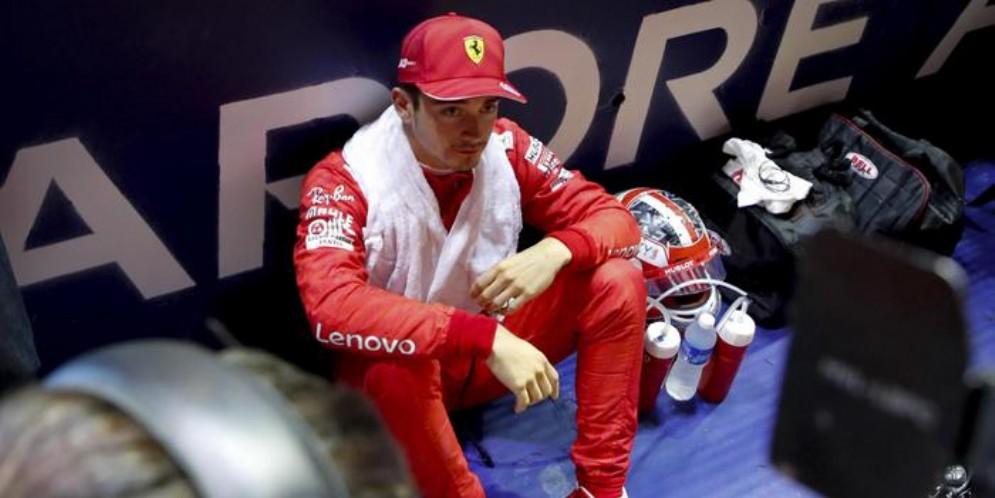 Il pilota della Ferrari, Charles Leclerc