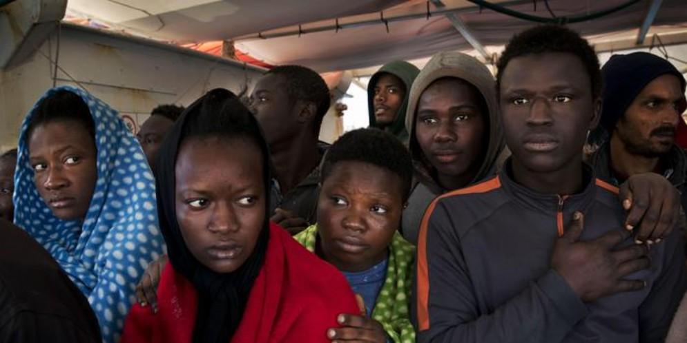 Migranti in un'immagine di repertorio