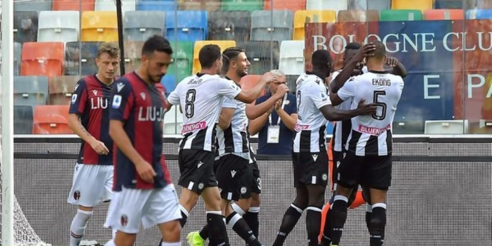 L'Udinese torna alla vittoria: Bologna battuto 1 a 0