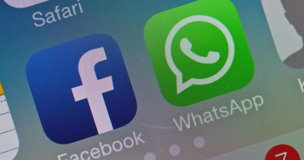 Loghi di Facebook e WhatsApp