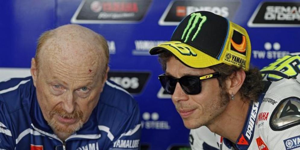Valentino Rossi con Silvano Galbusera
