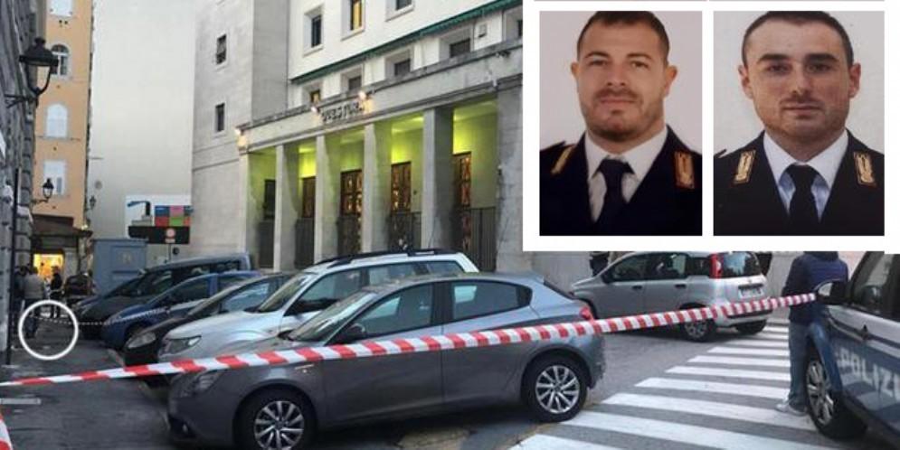 Sparatoria di Trieste: morti gli agenti Pierluigi Rotta e Matteo De Menego