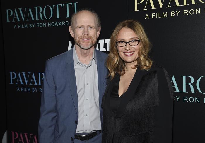 Ron Howard con la moglie di Luciano Pavarotti, Nicoletta Mantovani