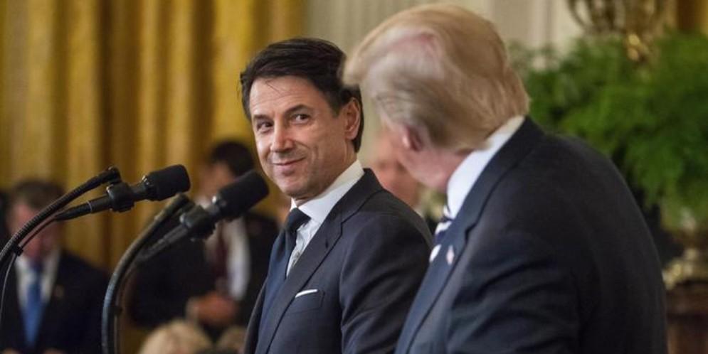 Il Premier Giuseppe Conte con il Presidente americano, Donald Trump