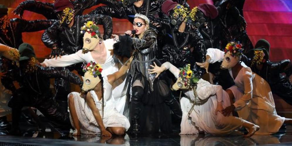 Madonna durante un concerto