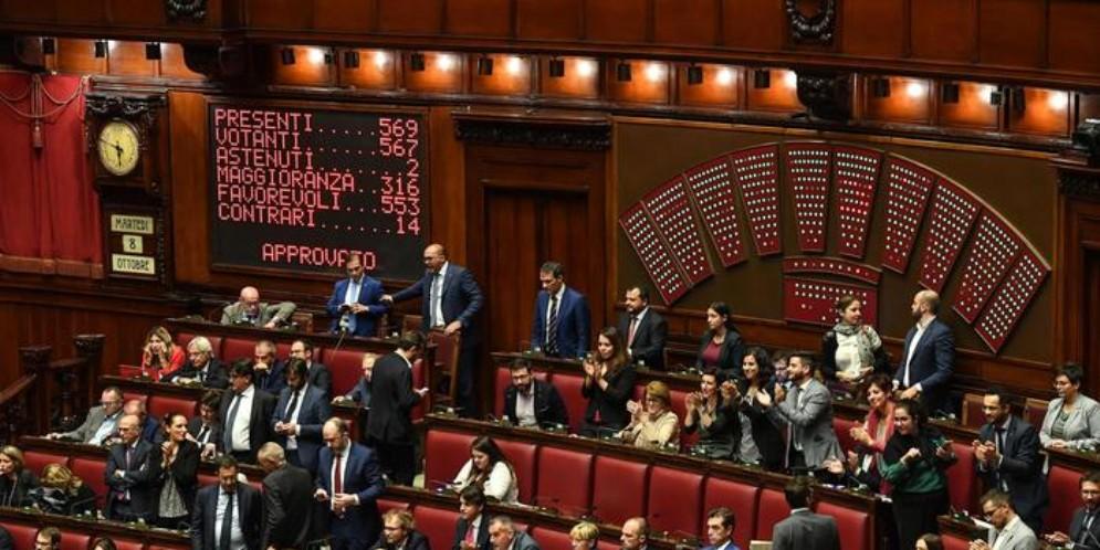 Il taglio dei Parlamentari diventa Legge. Camera approva con 553 sì