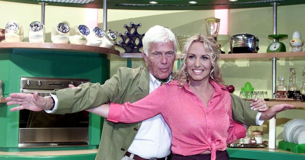 Beppe Bigazzi con Antonella Clerici