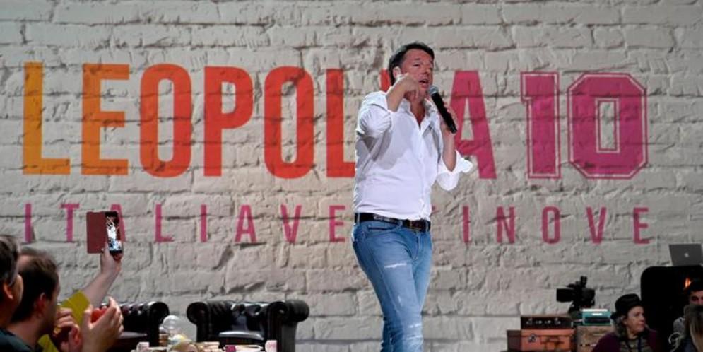 Matteo Renzi, leader di Italia Viva, durante la Leopolda 10