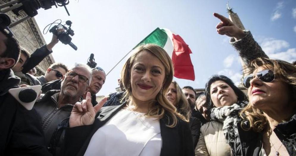 Il Presidente di Fratelli d'Italia, Giorgia Meloni