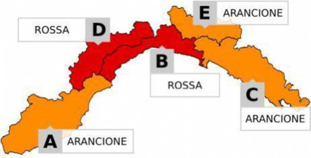 Maltempo in Liguria, allerta rossa su Genova e Savona