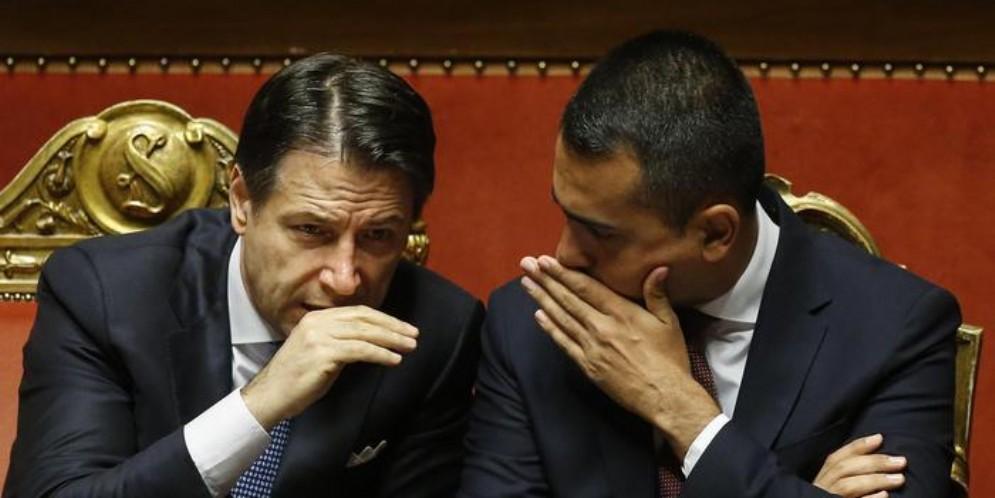 Il Premier Giuseppe Conte con il Ministro, Luigi Di Maio