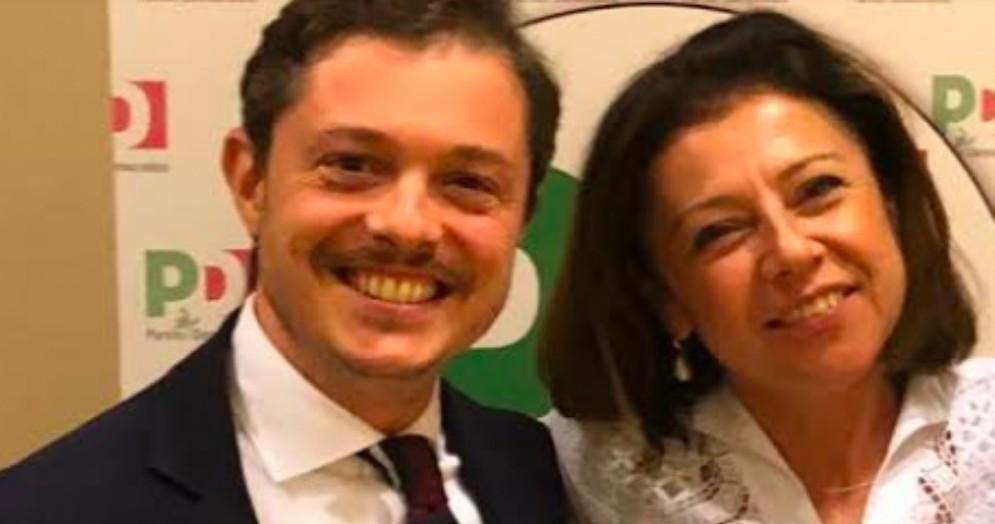 Alessandro Venanzi con il Ministro Paola De Micheli