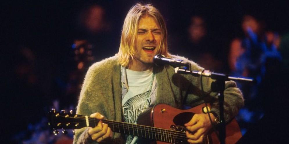 Kurt Cobain nella famosa performance «Unplugged» della MTV del 1993