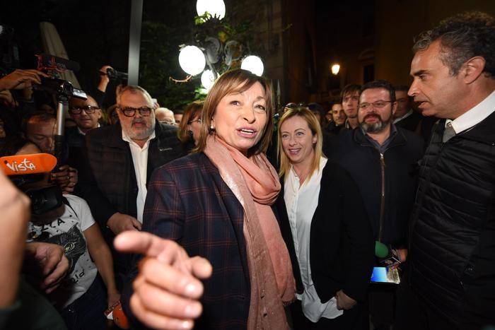 Giorgia Meloni con Donatella Tesei