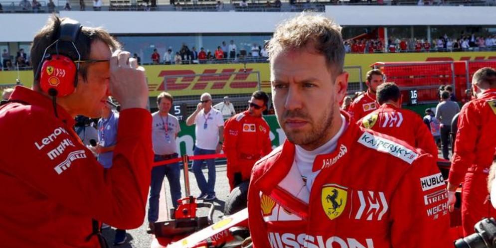 Il pilota della Ferrari, Sebastian Vettel