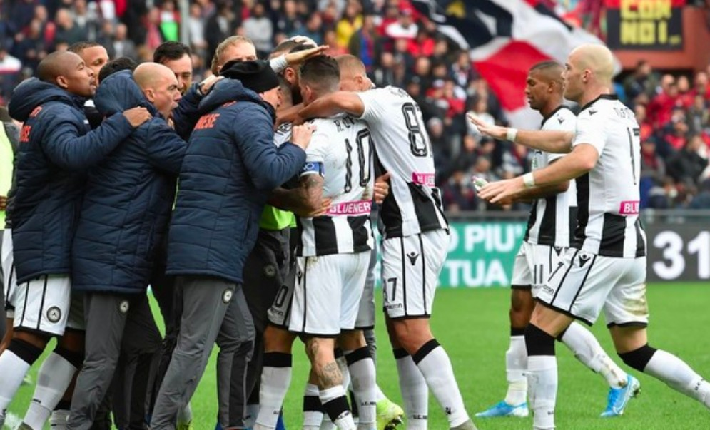 L'Udinese espugna Marassi e torna alla vittoria