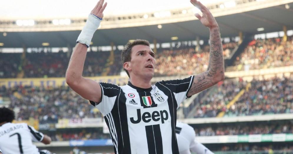 Mario Mandzukic, centravanti della Juventus e della nazionale croata