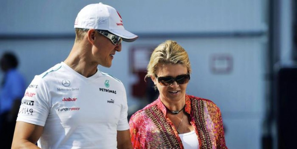 Michael Schumacher con la moglie Corinne