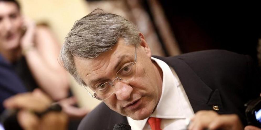 Il leader della CGIL, Maurizio Landini