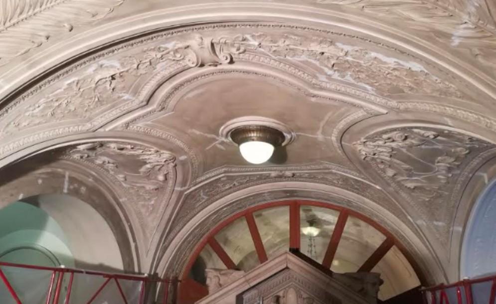 Palazzo D'Aronco: al via i lavori di sistemazione dei soffitti