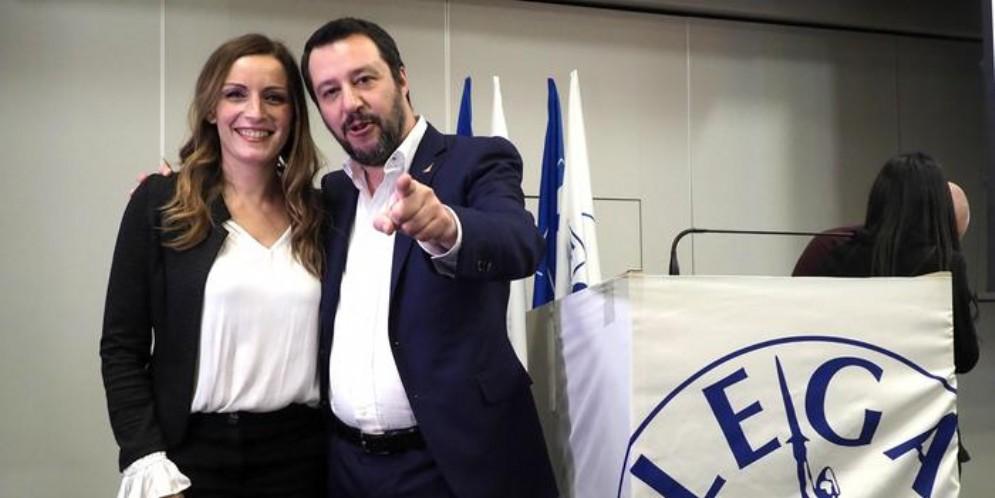 Lucia Borgonzoni e Matteo Salvini