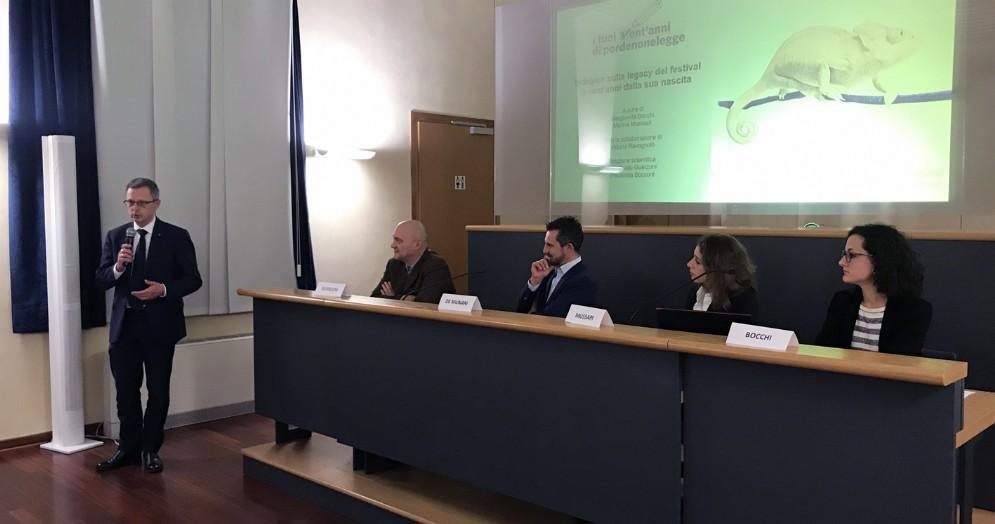 «Studio Bocconi indica percorso per il futuro di Pordenonelegge»