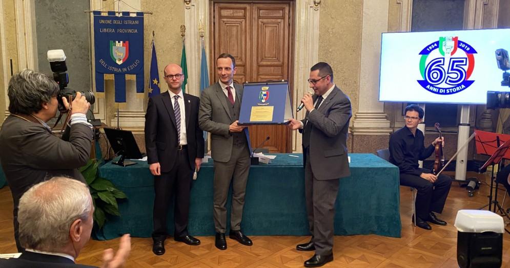Cerimonia per i 65 anni dell'Unione degli Istriani