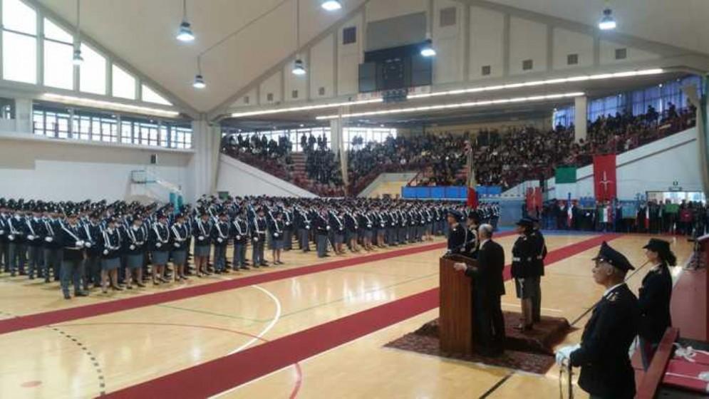 Cerimonia di giuramento degli allievi del 206. corso di formazione della Scuola agenti Polizia Stato Vincenzo Raiola