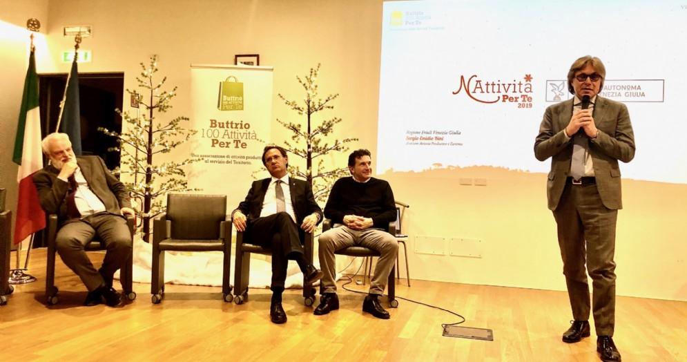 L'assessore regionale Sergio Emidio Bini a Buttrio