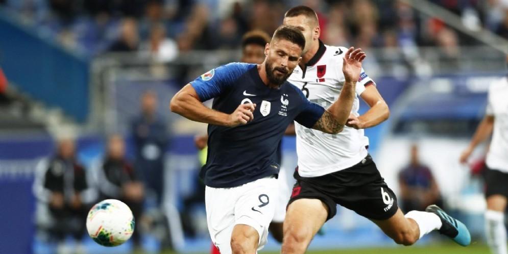 Olivier Giroud, centravanti del Chelsea e della nazionale francese