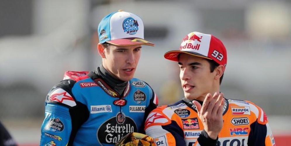 Alex Marquez con il fratello Marc