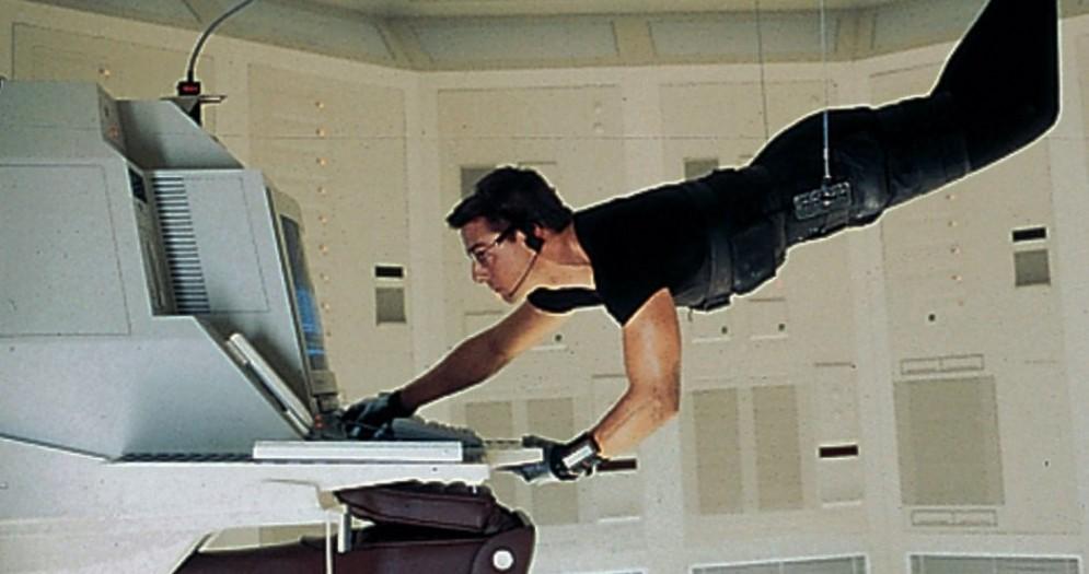 Scena di Mission Impossible con Tom Cruise