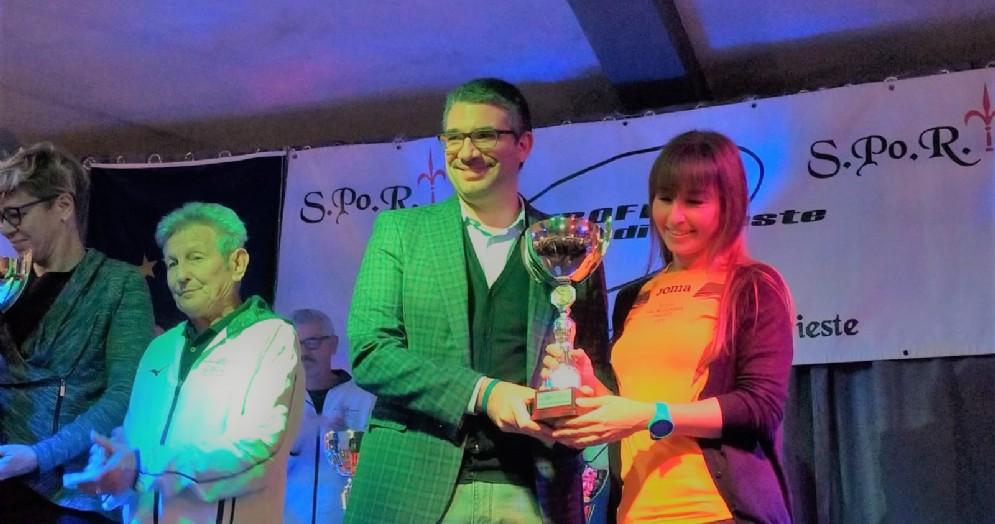 Un momento della premiazione della 19. edizione del Trofeo Provincia di Trieste