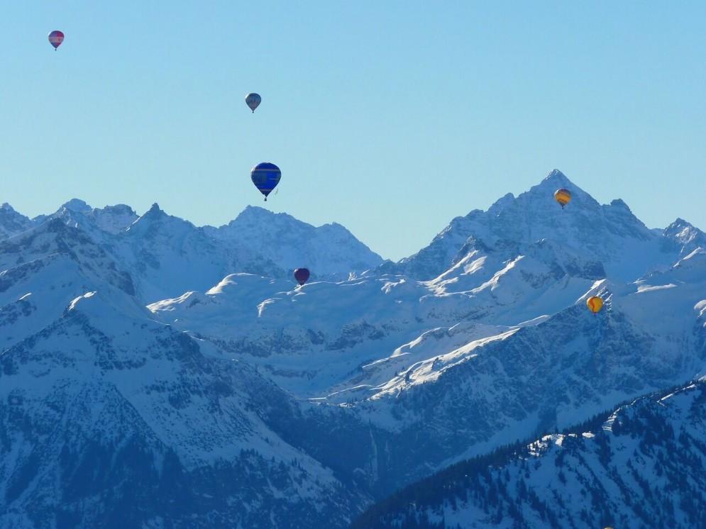 In mongolfiera in Valle D'Aosta