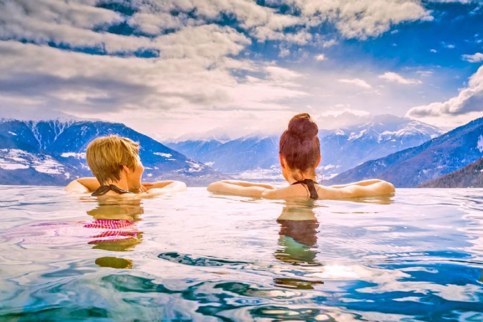 Infinity pool in Alto Adige