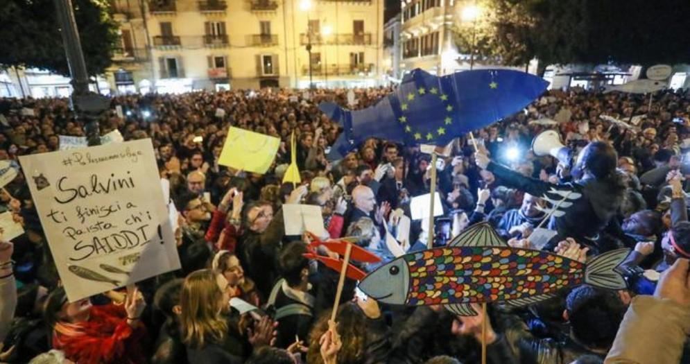 Manifestazione delle «sardine»