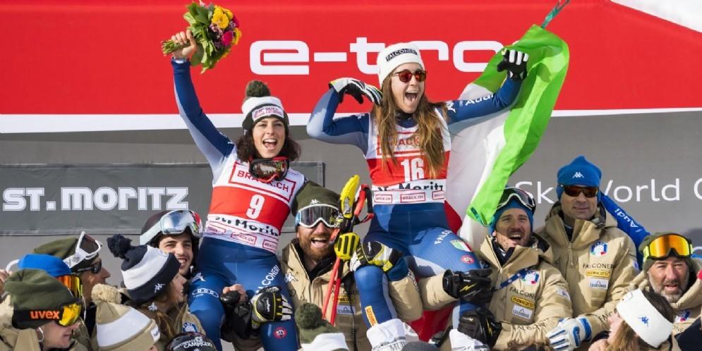 Doppietta azzurra nel SuperG di St. Moritz: vince Sofia Goggia, seconda Federica Brignone