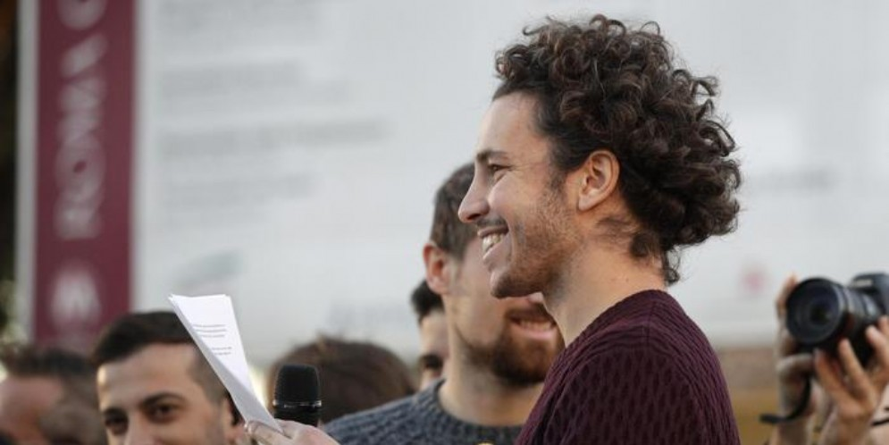 Mattia Santori, leader del Movimento delle Sardine