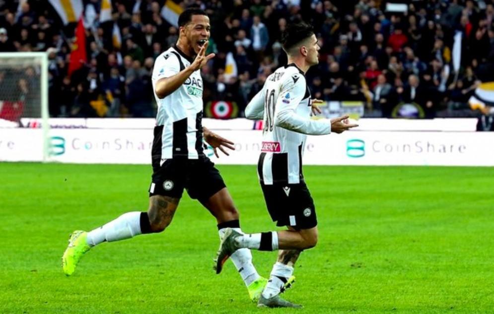 L'Udinese batte il Cagliari 2 a 1