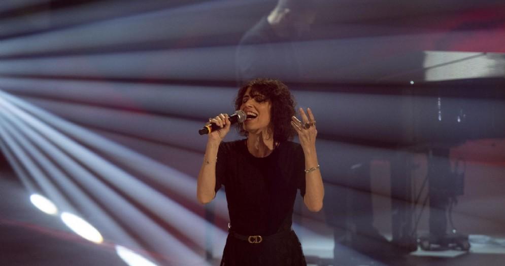Giorgia durante un concerto