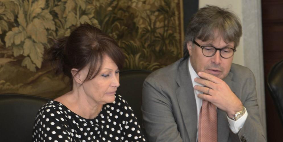 Gli assessori Alessia Rosolen e Sergio Emidio Bini
