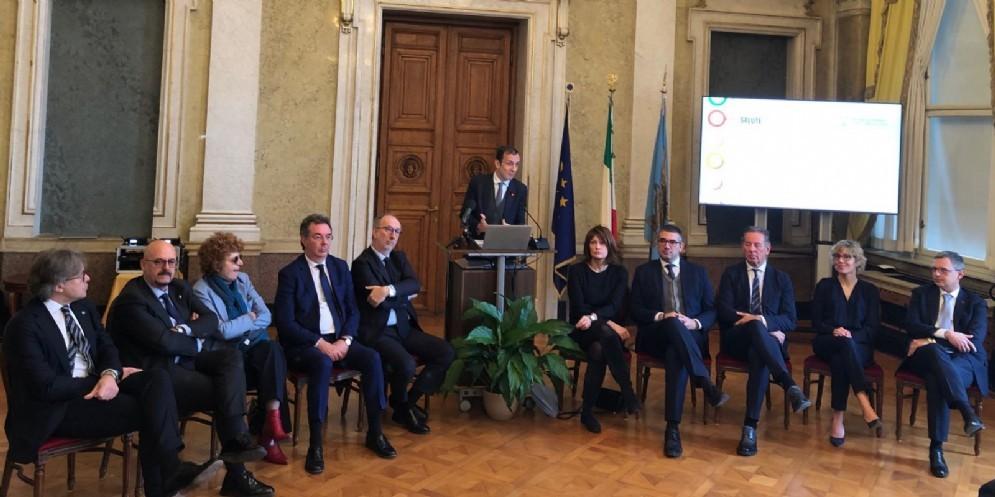 Il Presidente Fedriga con la Giunta regionale FVG