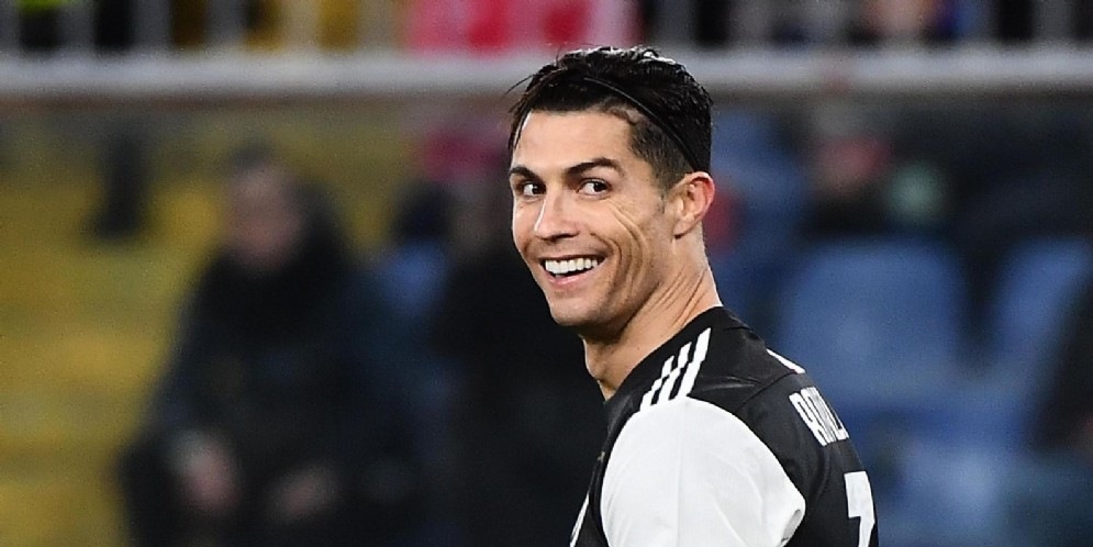 Cristiano Ronaldo con la maglia della Juventus