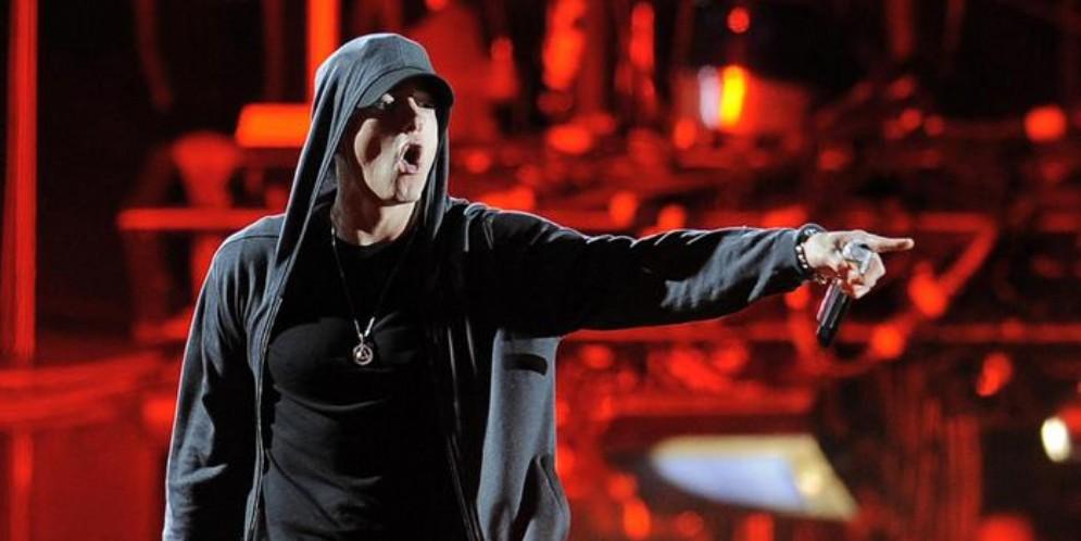 Eminem durante un concerto