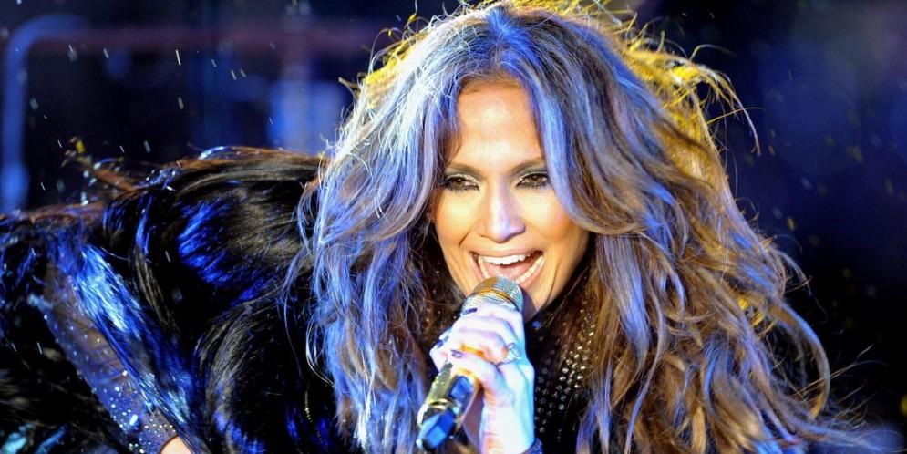 La cantante Jennifer Lopez durante un concerto