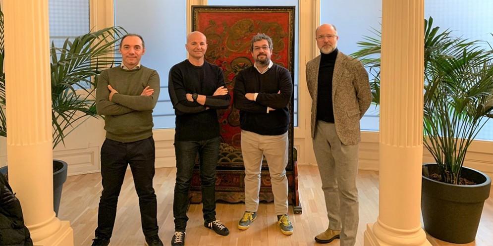 Da sinistra: Alberto Ratti, Fabio Nalucci, Diego Fernandez, Jordi Urbea
