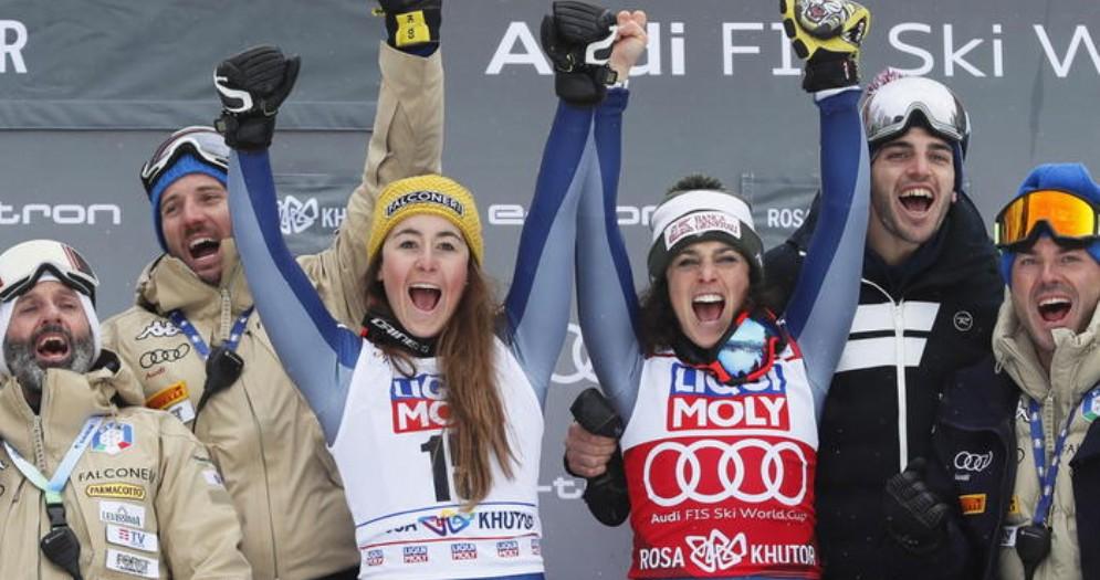 Federica Brignone vince il super G di Sochi, Sofia Goggia seconda