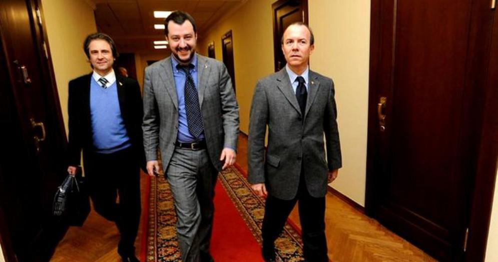 Matteo Salvini con Gianluca Savoini